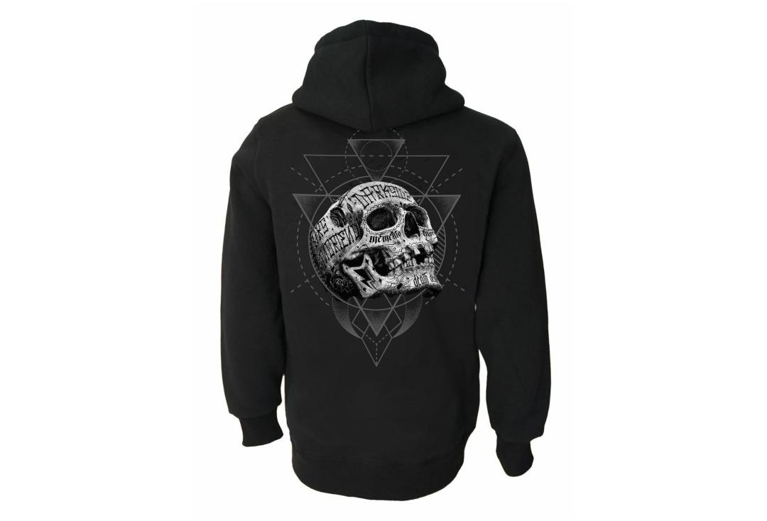 Darkside Clothing | Inked Skull Unisex Zip Hood - Back