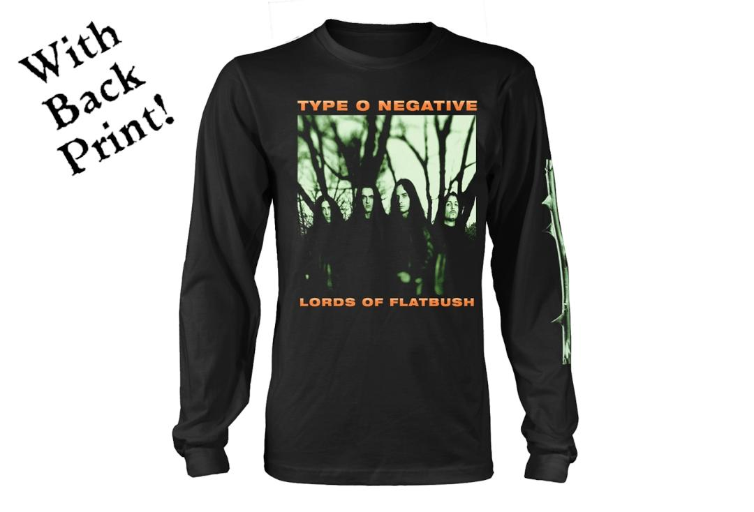 Official Band Merch | Type O Negative - October Rust Men's Official Long Sleeve T-Shirt - Front