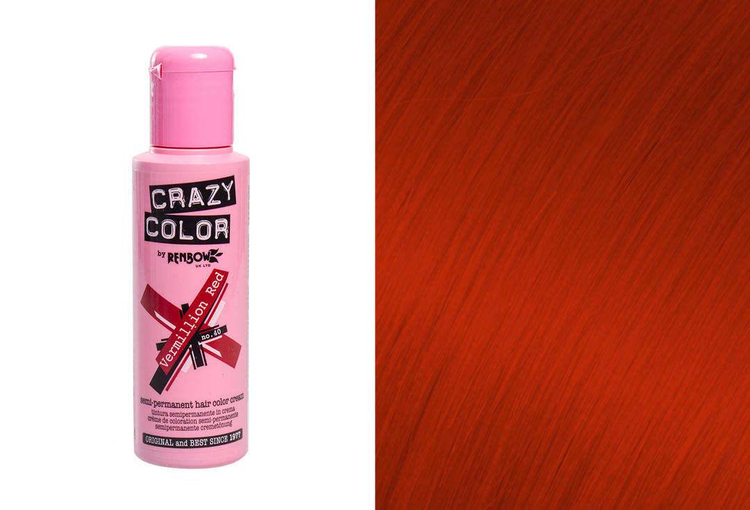 Renbow | Crazy Color Semi-Permanent Hair Colour (040 Vermillion)