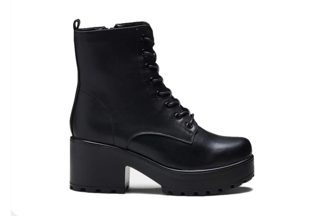 Official Band Merch | Gin Military Black Platform Boots - Main