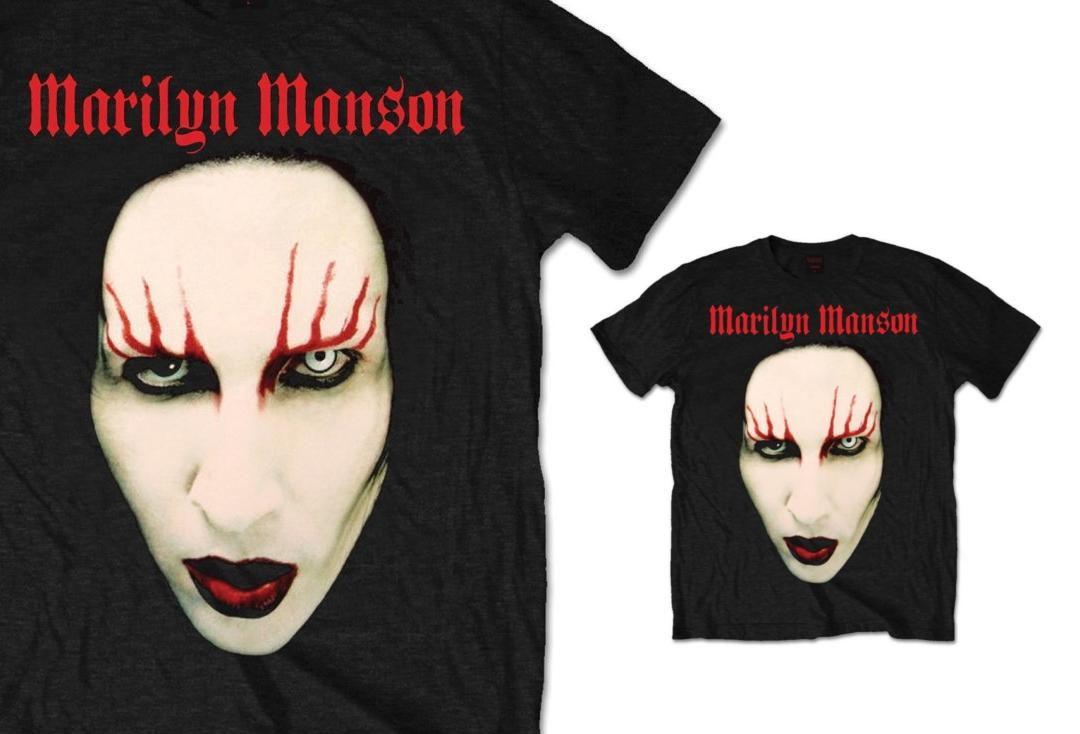 Marilyn Manson | Red Lips Short Sleeve Men's T-Shirt