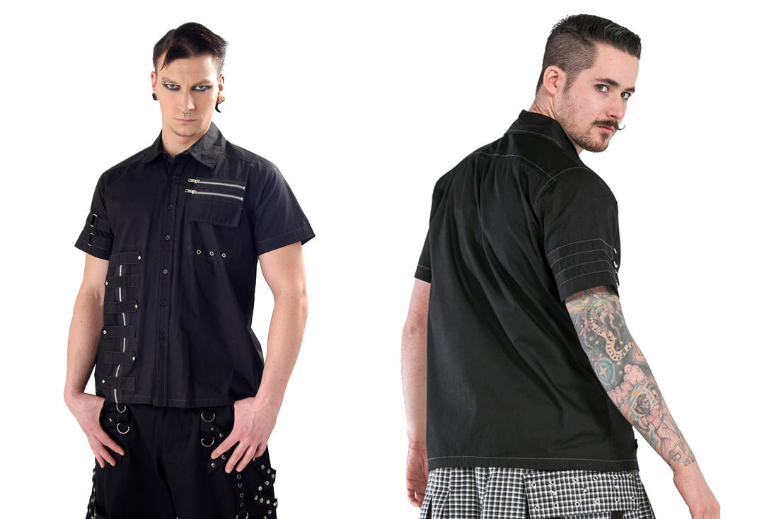 Dead Threads | Zip Detail Short Sleeve 1236 Shirt