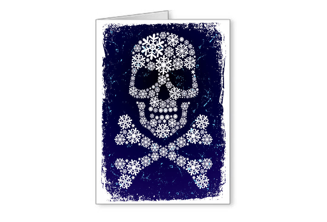 Void Clothing | Snowflake Skull Christmas Greetings Card