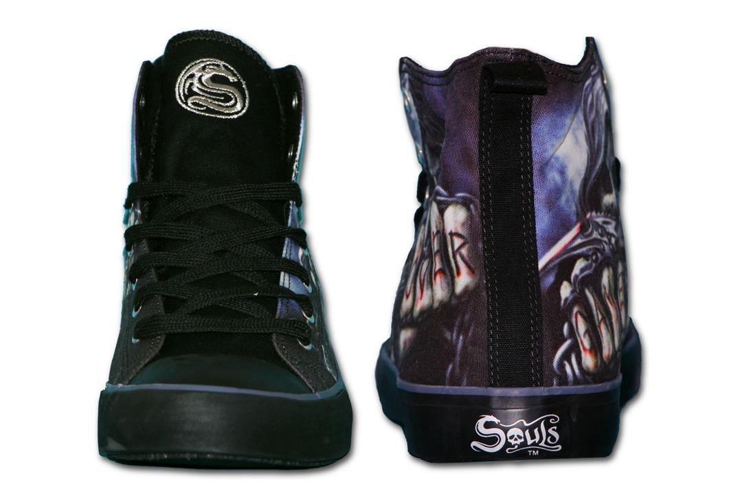 Spiral Direct | Game Over Men's Lace Up High Top Sneakers - Back
