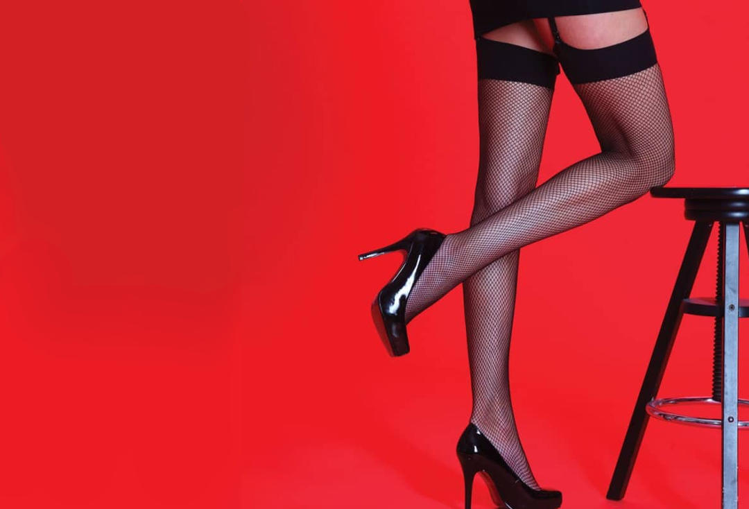 Silky | Plain Black Fishnet Stockings