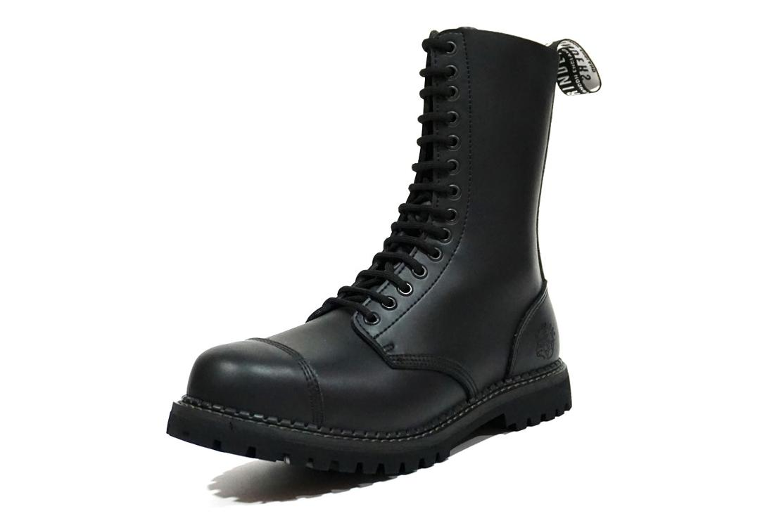 Grinders | Herald Men's Black Leather Boots