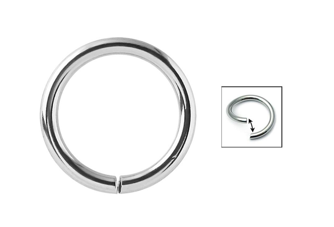 Body Jewellery | Surgical Steel Seamless Rings - 0.8mm to 1.2mm