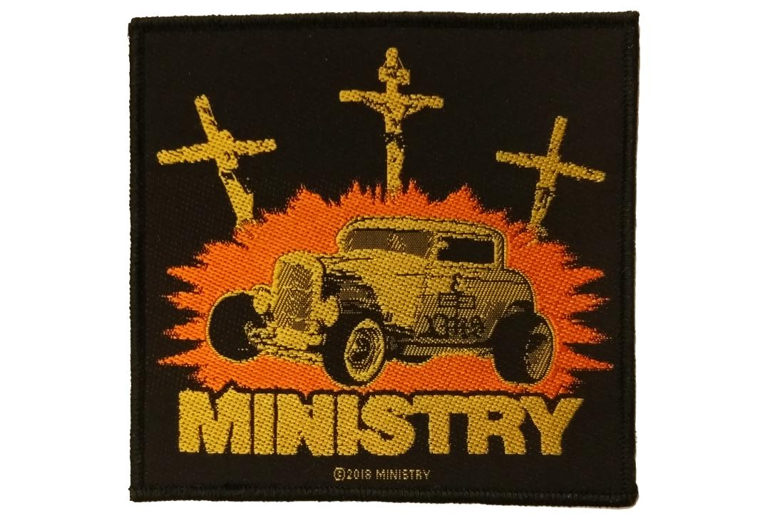 Official Band Merch | Ministry - Jesus Built My Hot-Rod Woven Patch