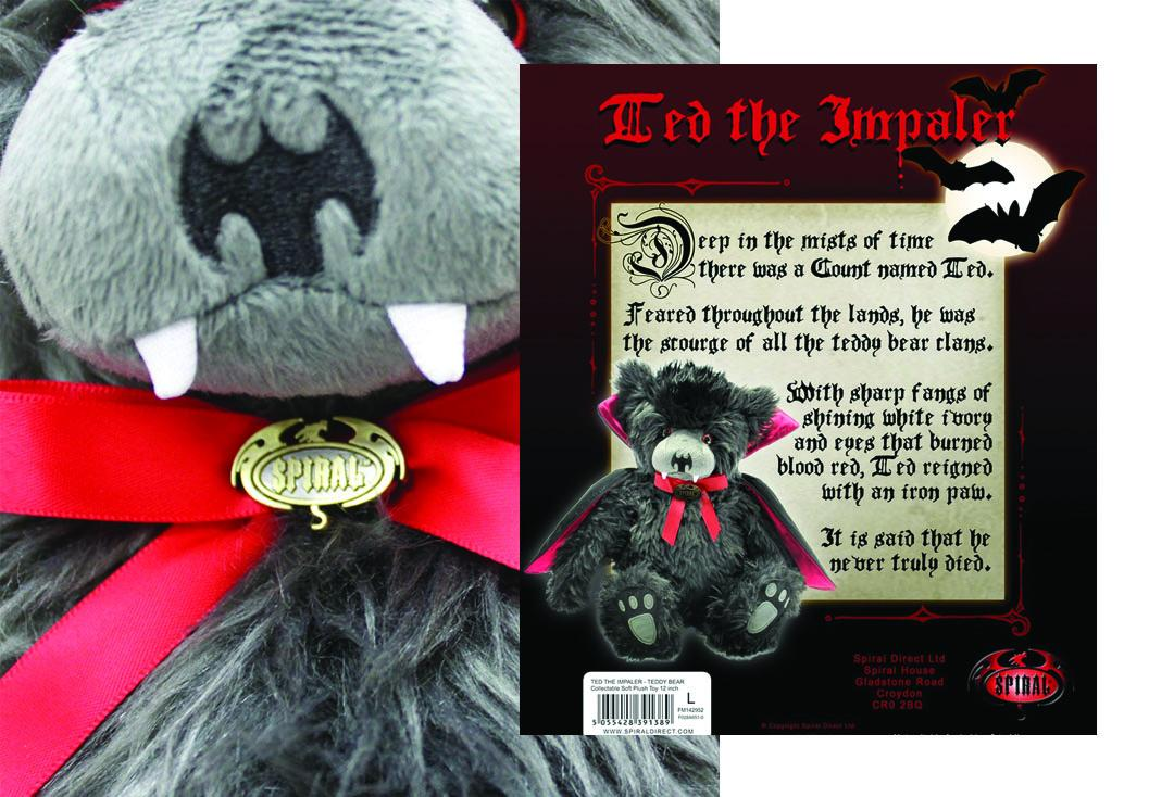 Spiral Direct | Ted The Impaler Plush Toy - Nose Close Up