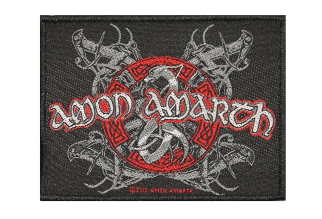 Official Band Merch | Amon Amarth - Viking Dog Woven Patch