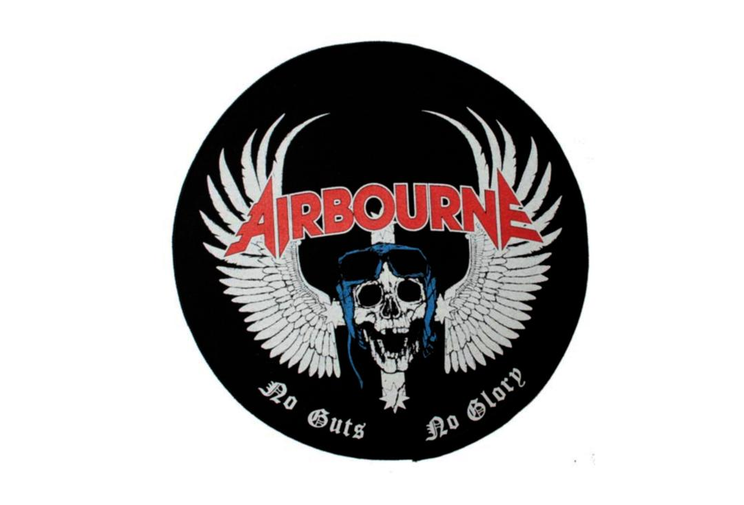 Official Band Merch | Airbourne - No Guts No Glory Printed Back Patch