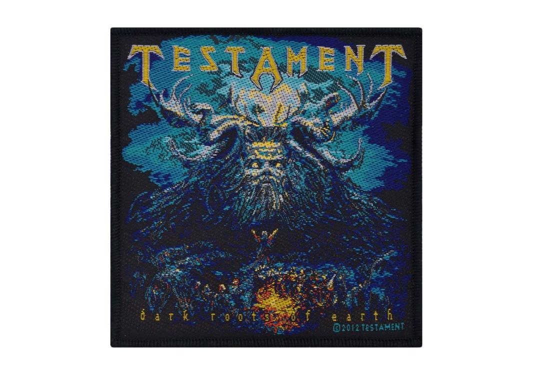Official Band Merch | Testament - Dark Roots Of Earth Woven Patch