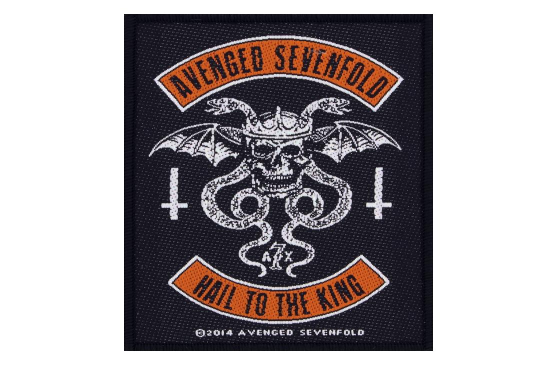 Official Band Merch | Avenged Sevenfold - Hail To The King Woven Patch