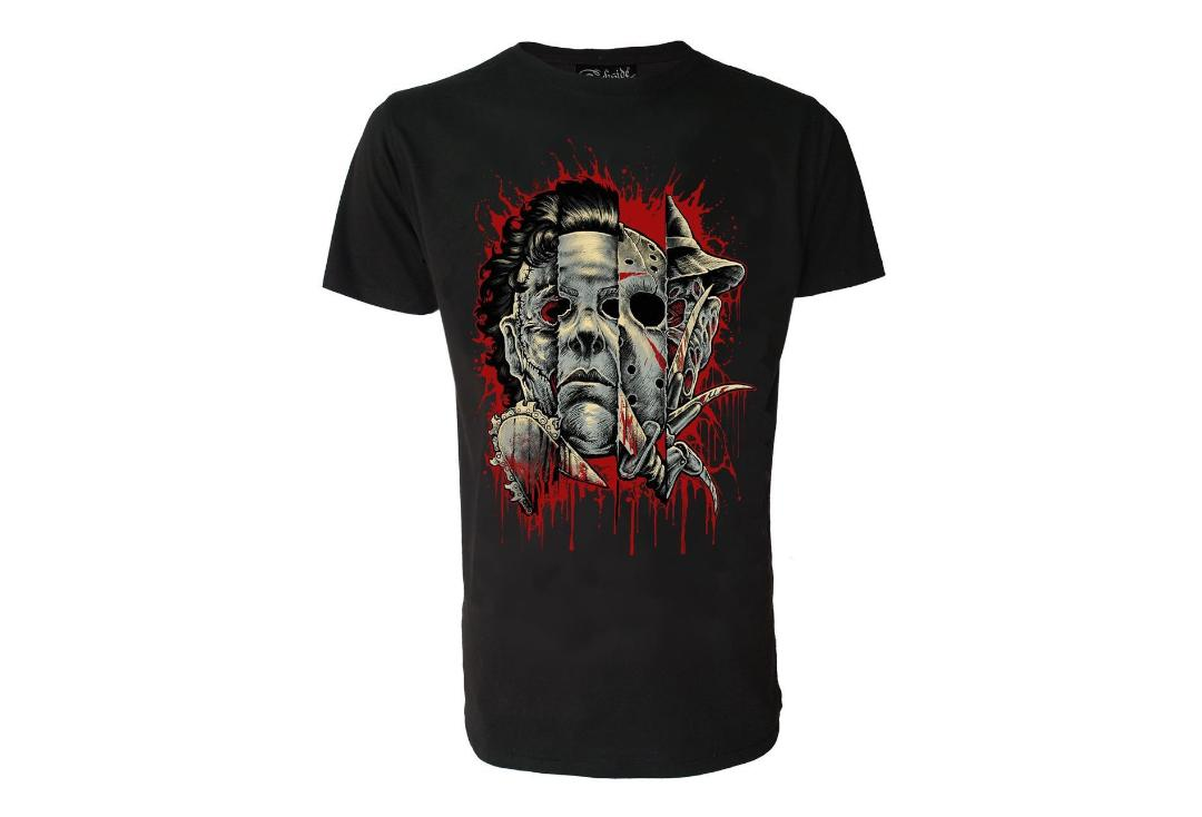 Darkside Clothing | Faces Of Horror Short Sleeve Men's T-Shirt