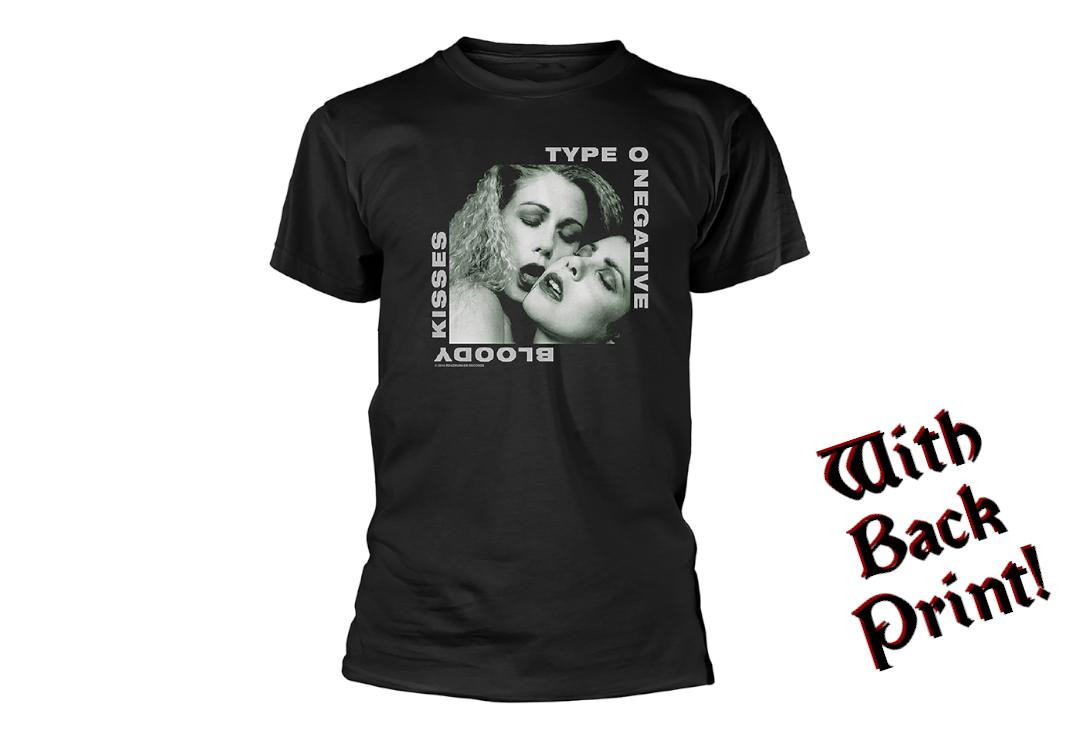 Official Band Merch | Type O Negative - Bloody Kisses Men's Short Sleeve T-Shirt - Front