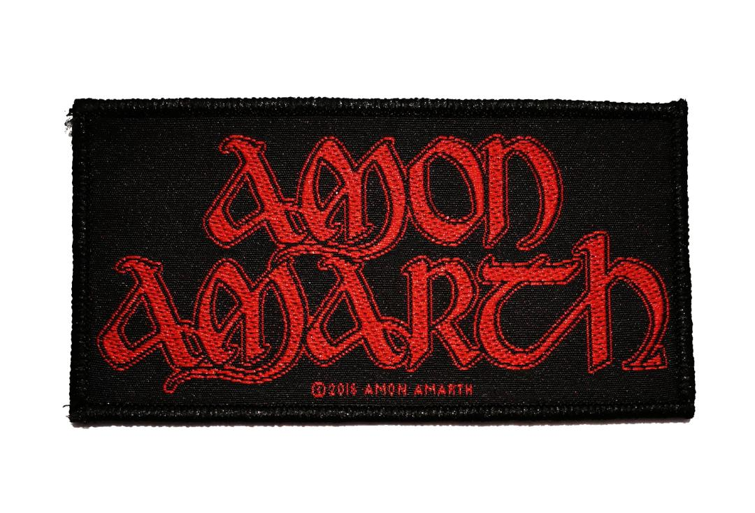 Official Band Merch | Amon Amarth - Red Logo Woven Patch