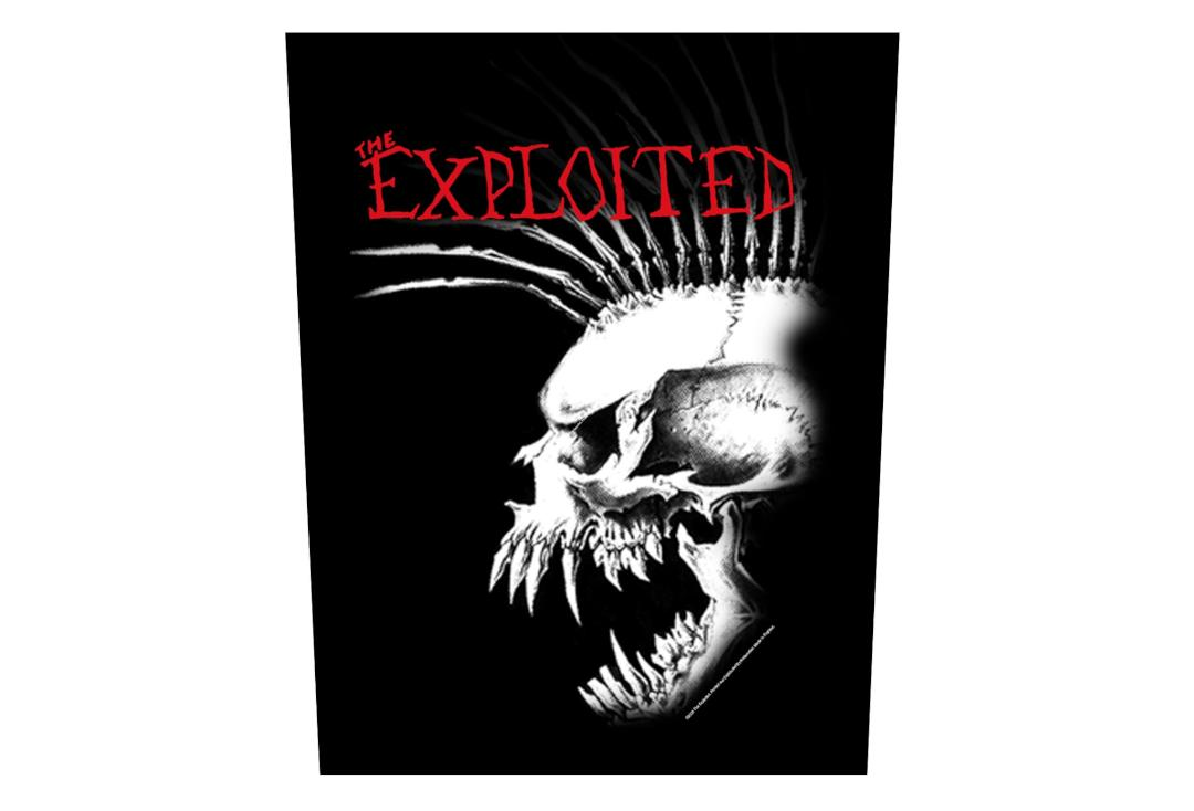 Official Band Merch | The Exploited - Bastard Skull Printed Back Patch