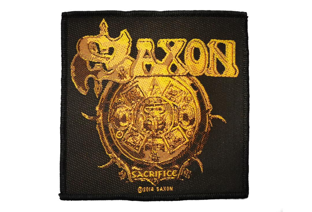 Official Band Merch | Saxon - Sacrifice Woven Patch