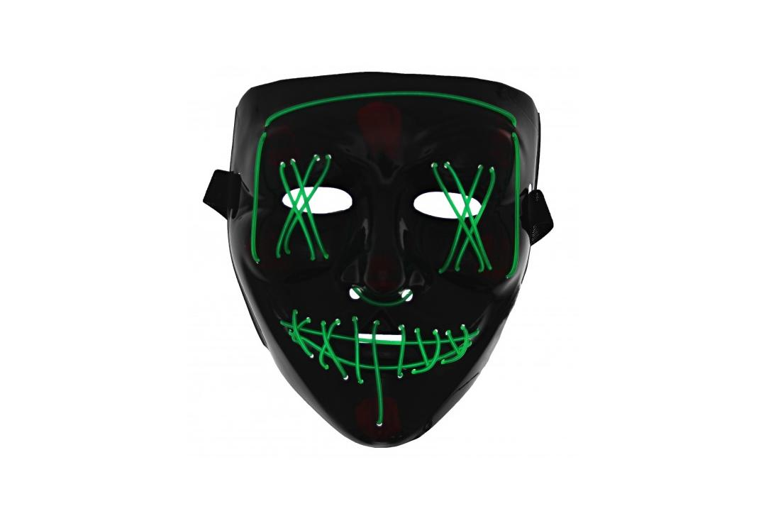 Void Clothing | Green Purge LED Light Up Plastic Mask