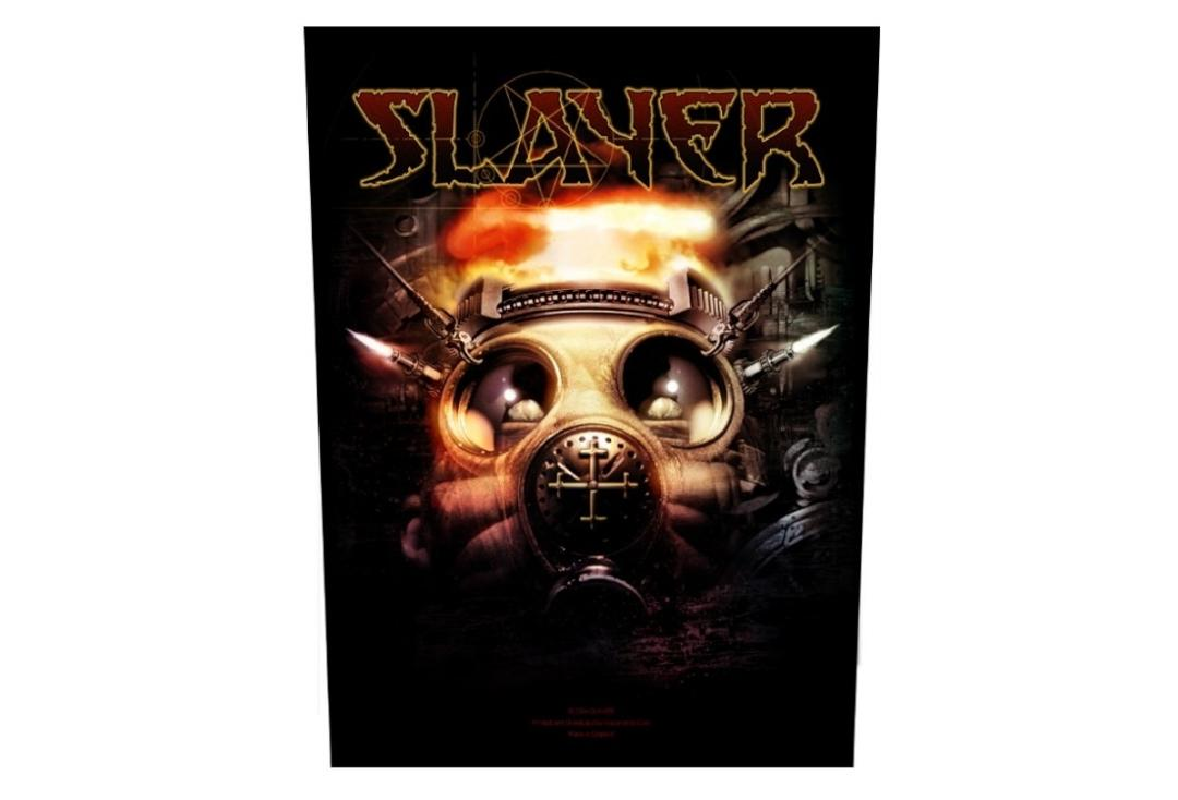 Official Band Merch | Slayer - Gas Mask Printed Back Patch