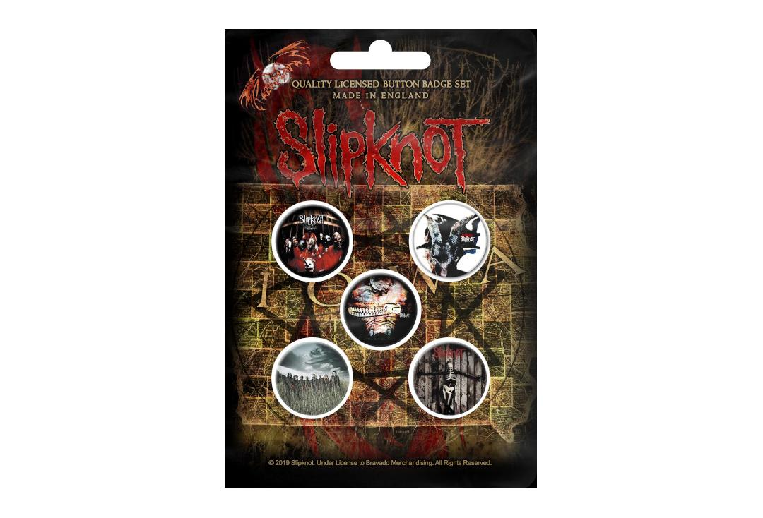 Official Band Merch | Slipknot - Albums Button Badge Pack