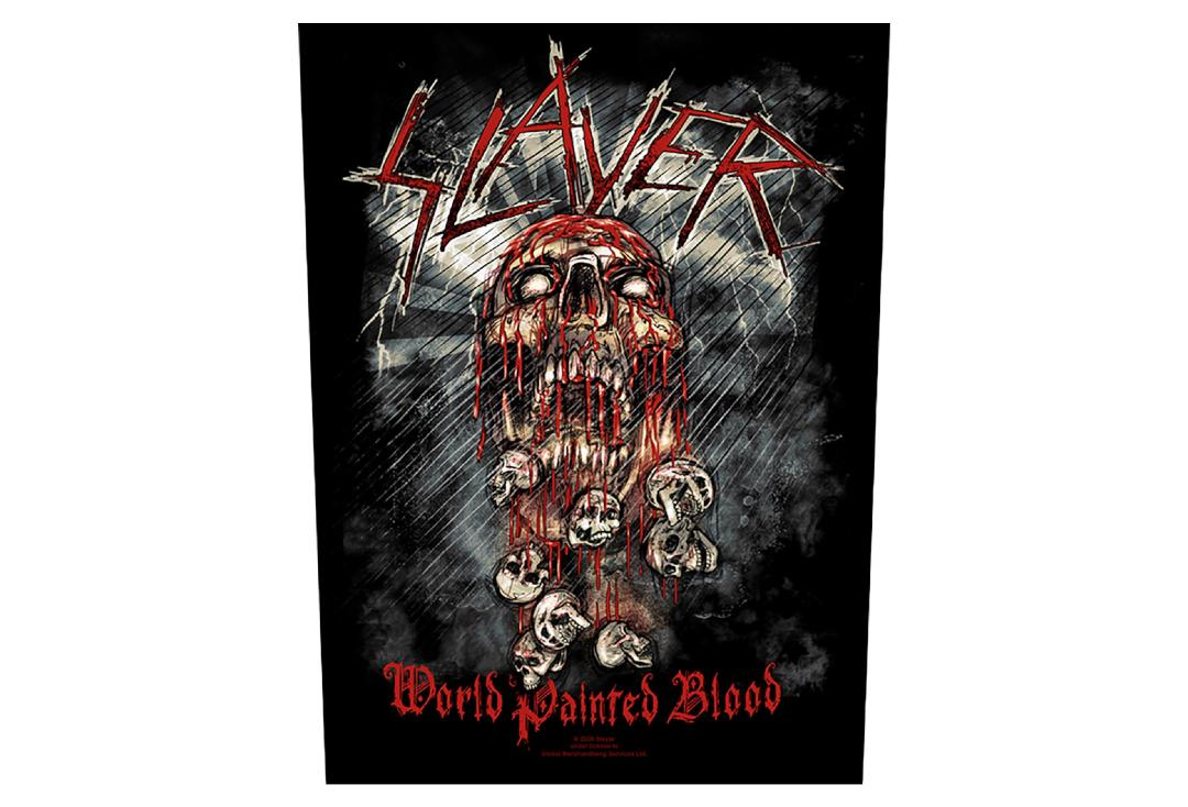 Official Band Merch | Slayer - World Painted Blood Printed Back Patch