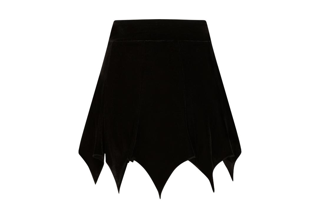 Necessary Evil | Freya Black Velvet Mini Skirt