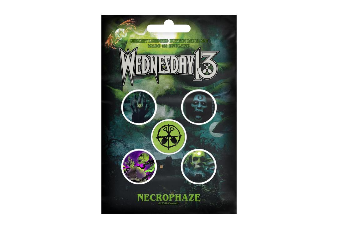 Official Band Merch | Wednesday 13 - Necrophaze Button Badge Pack