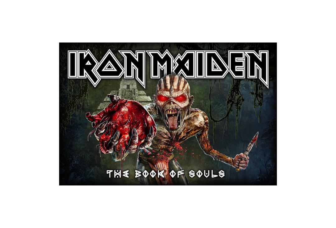 Official Band Merch | Iron Maiden - The Book Of Souls Printed Textile Poster