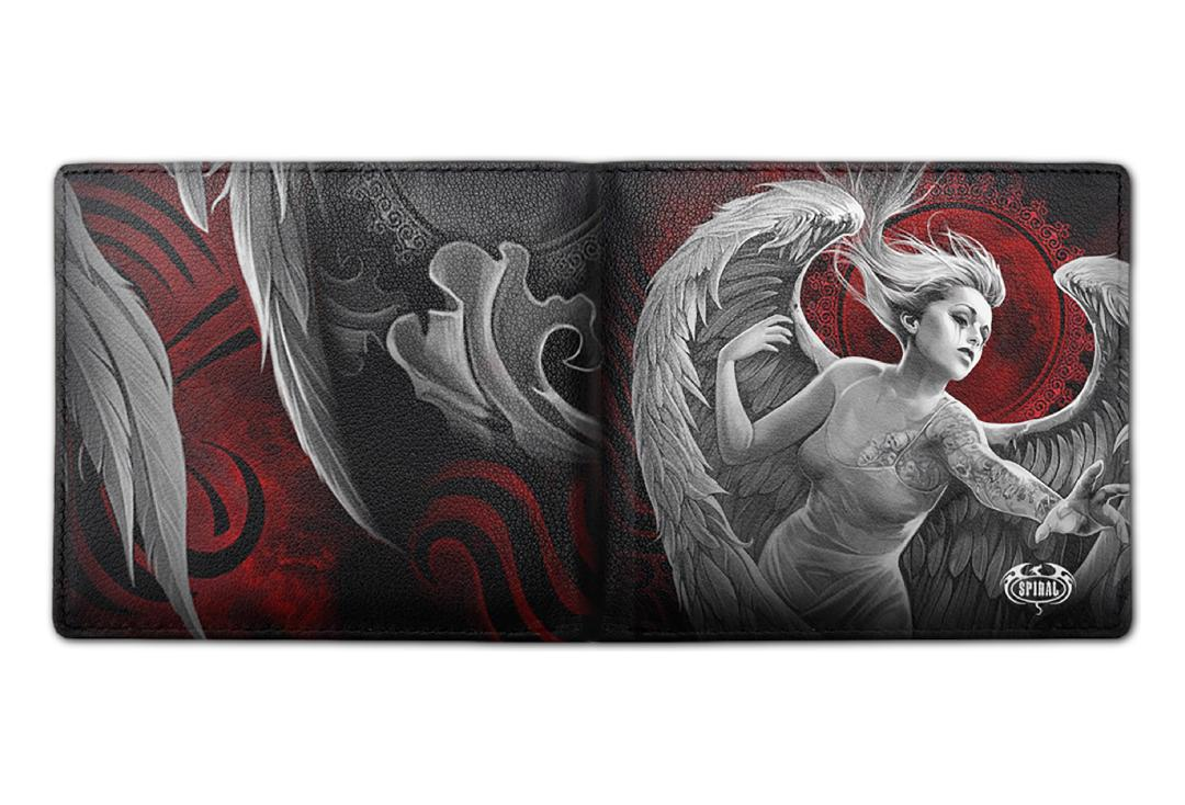 Spiral Direct | Angel Despair Spiral Bi-Fold RFID Blocking Wallet - Front & Back