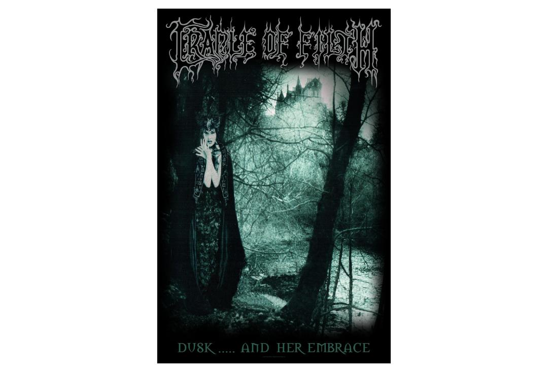 Official Band Merch | Cradle Of Filth - Dusk And Her Embrace Printed Textile Poster