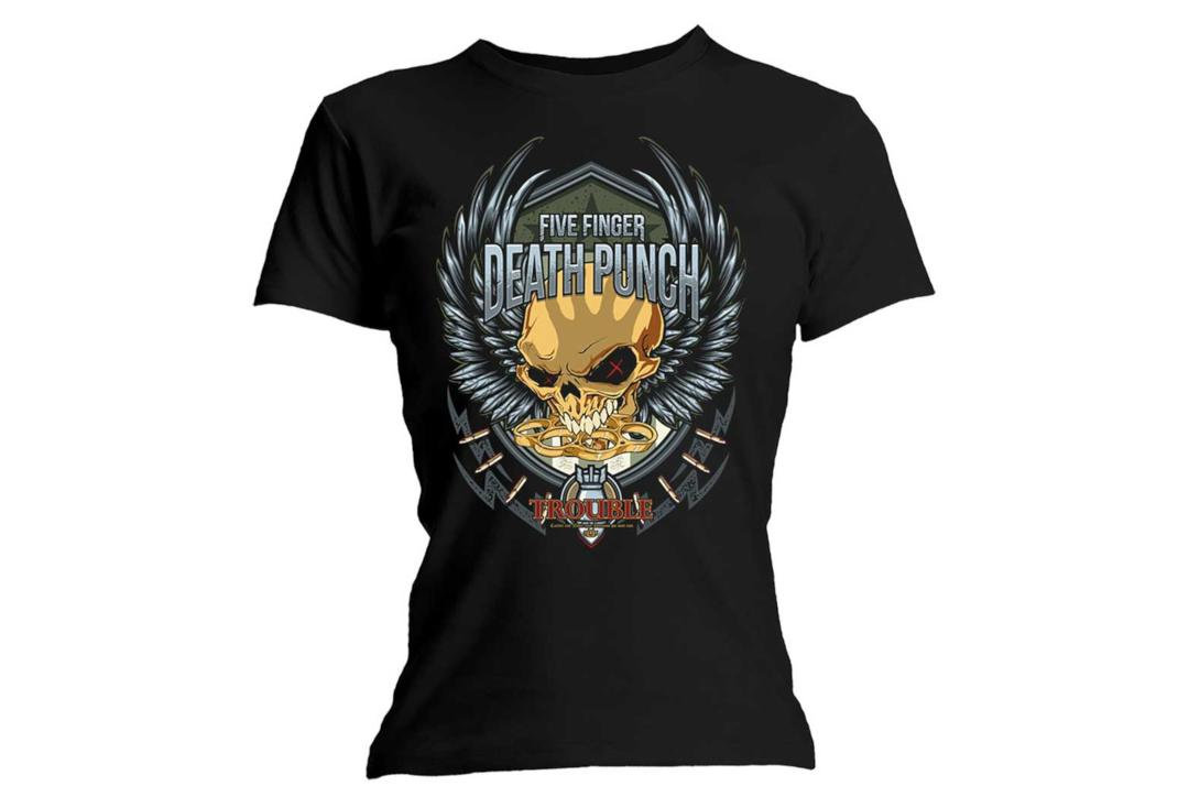Official Band Merch | Five Finger Death Punch - Trouble Skinny Fit Women's T-Shirt