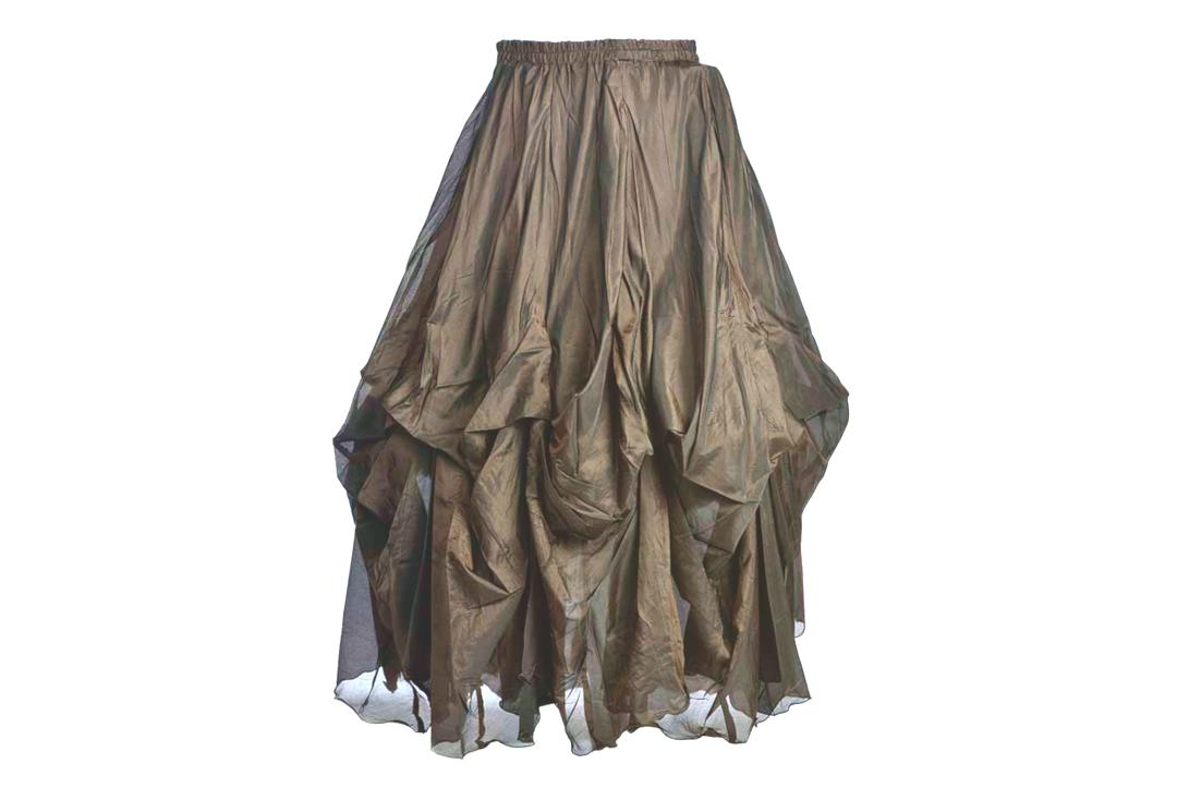 Darkstar By Jordash | Beige Ruched Gothic Skirt