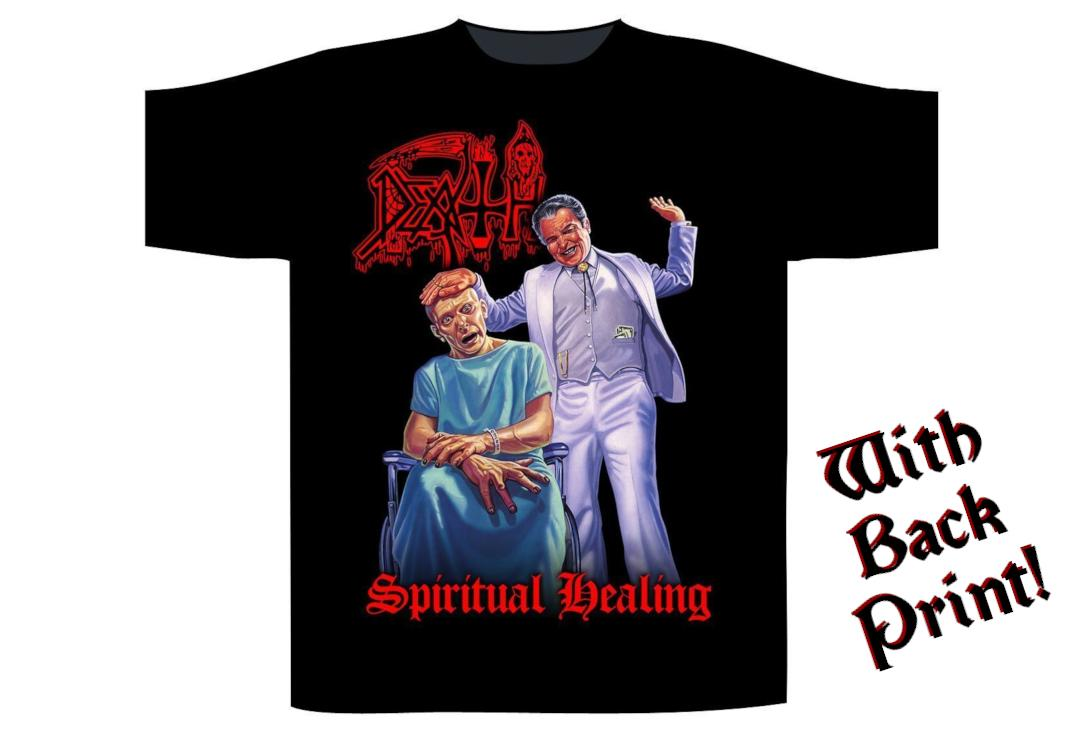 Official Band Merch | Death - Spiritual Healing Men's Short Sleeve T-Shirt - Front