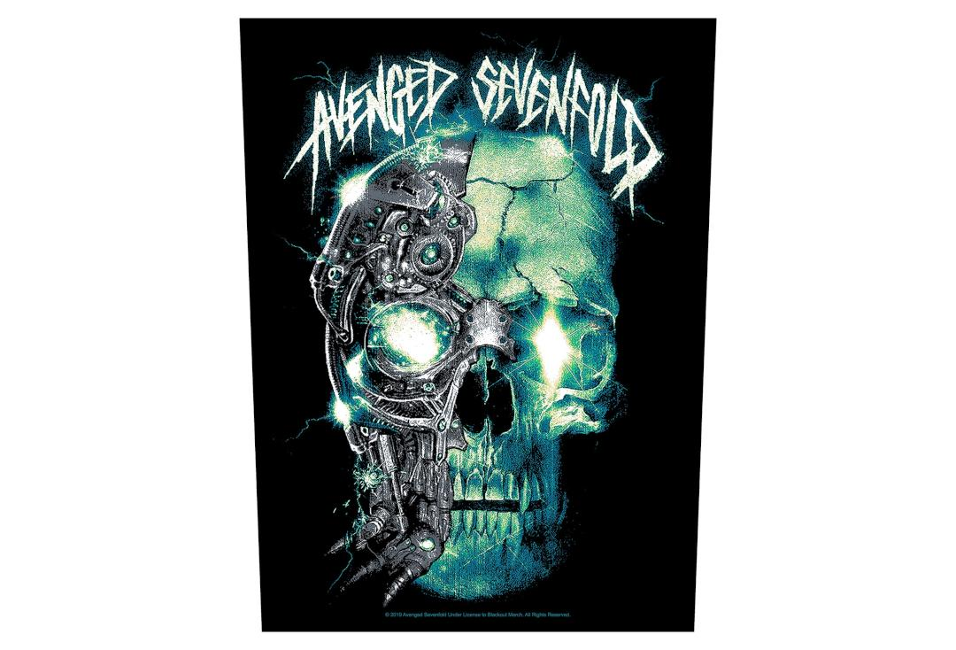 Official Band Merch | Avenged Sevenfold - Mechanical Skull Printed Back Patch