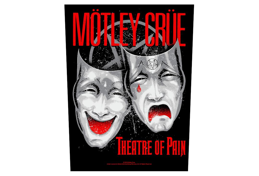 Official Band Merch | Motley Crue - Theatre Of Pain Printed Back Patch