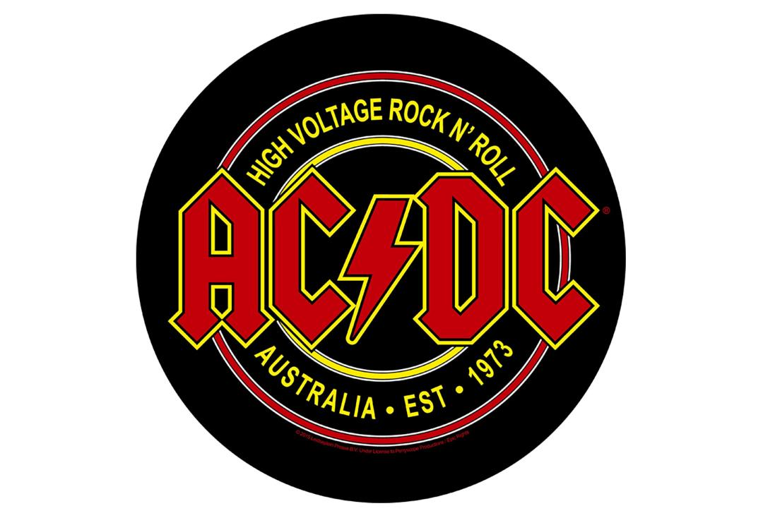 Official Band Merch | AC/DC - High Voltage Printed Back Patch