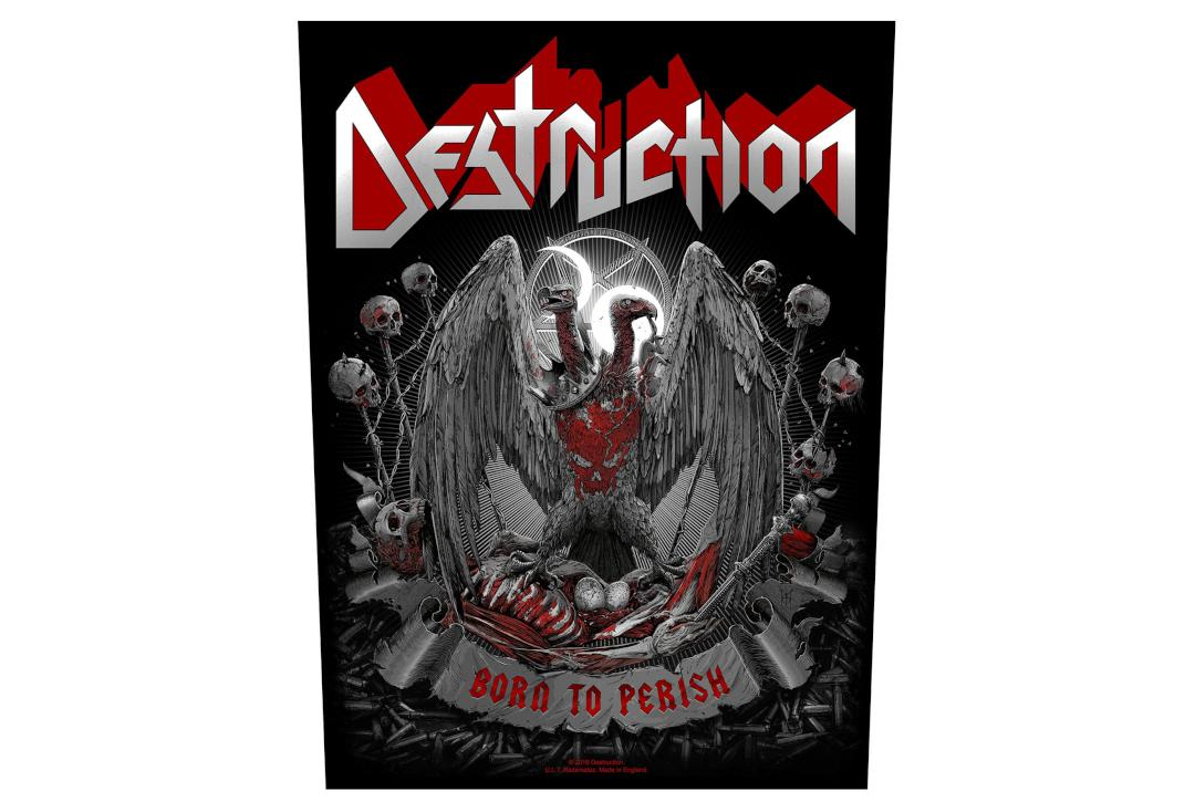 Official Band Merch | Destruction - Born To Perish Printed Back Patch