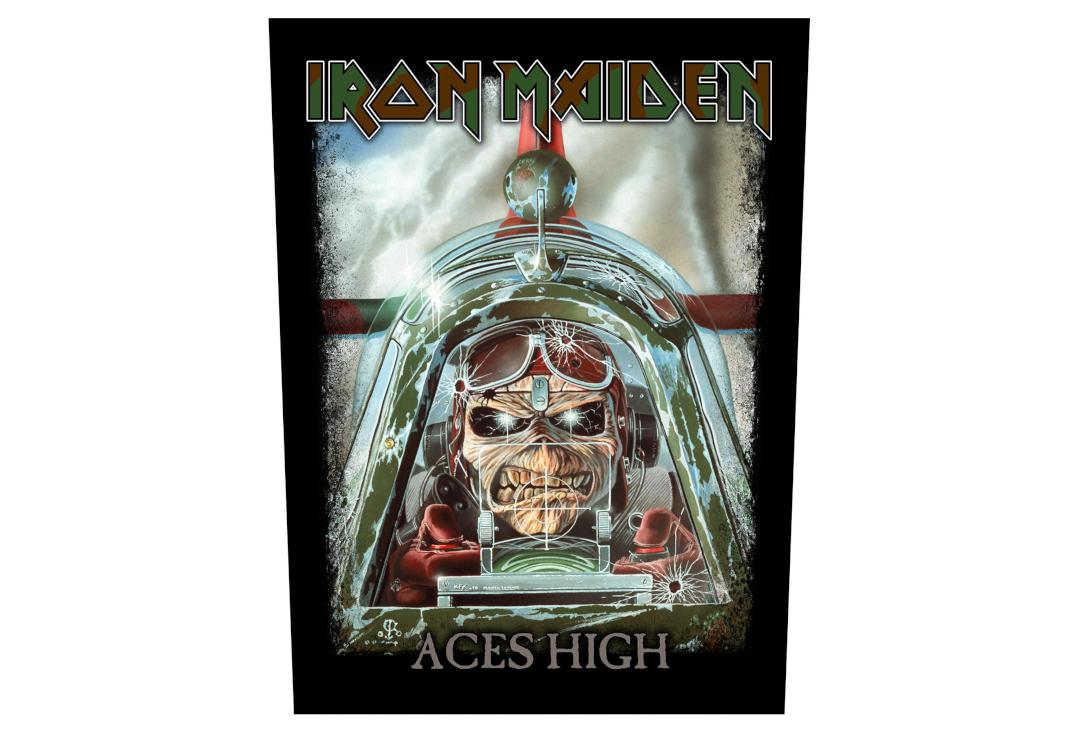 Official Band Merch | Iron Maiden - Aces High Printed Back Patch