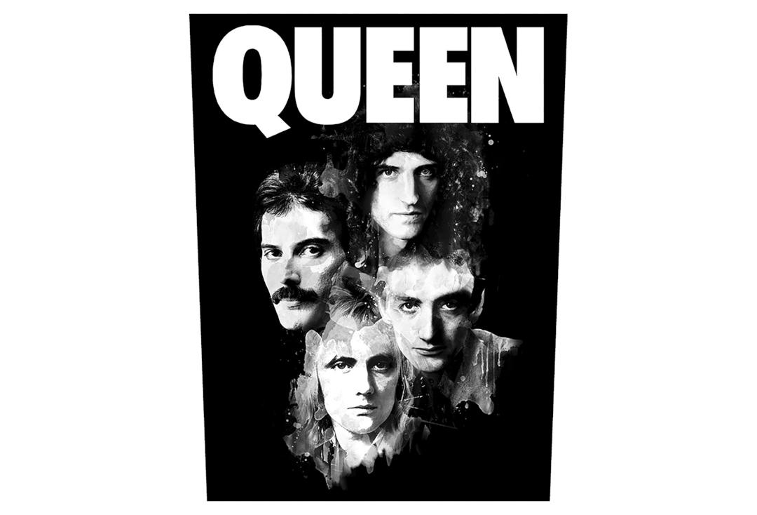 Official Band Merch | Queen - Faces Printed Back Patch