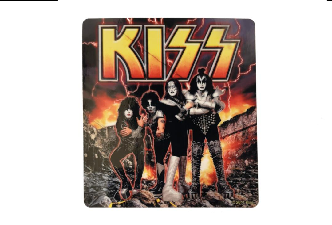 Official Band Merch | Kiss - Destroyer Vinyl Sticker