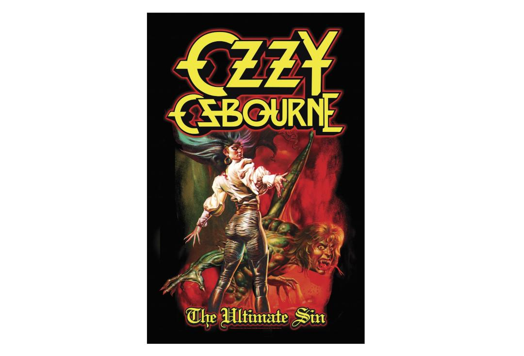 Official Band Merch | Ozzy Osbourne - The Ultimate Sin Printed Textile Poster