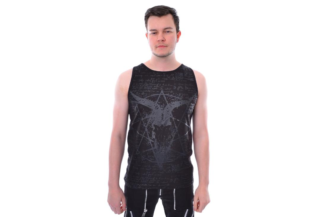 Heartless | Black Pentagram Vest Top - Front