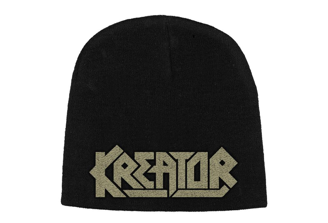 Official Band Merch | Kreator - Logo Embroidered Knitted Beanie Hat