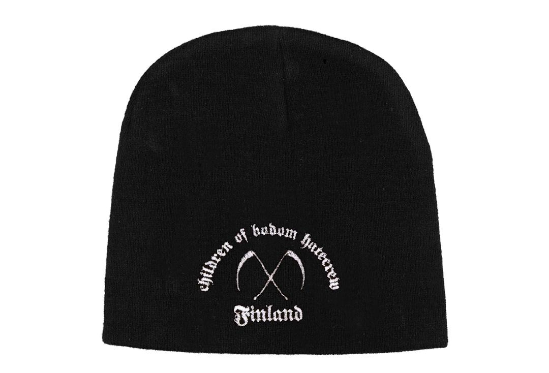 Official Band Merch | Children Of Bodom - Hatecrew/Finland Embroidered Knitted Beanie Hat