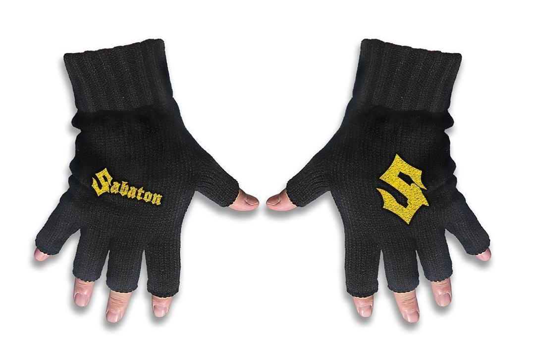 Official Band Merch | Sabaton - Logo Embroidered Knitted Finger-less Gloves