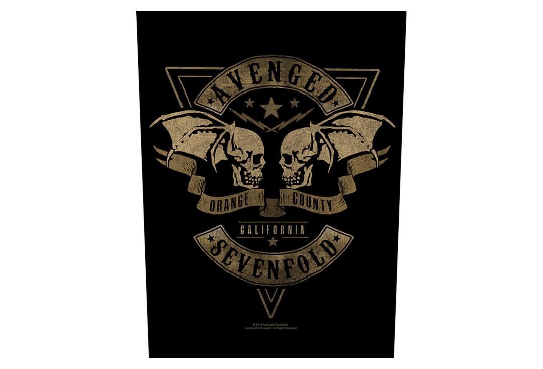 Official Band Merch | Avenged Sevenfold - Orange County Printed Back Patch