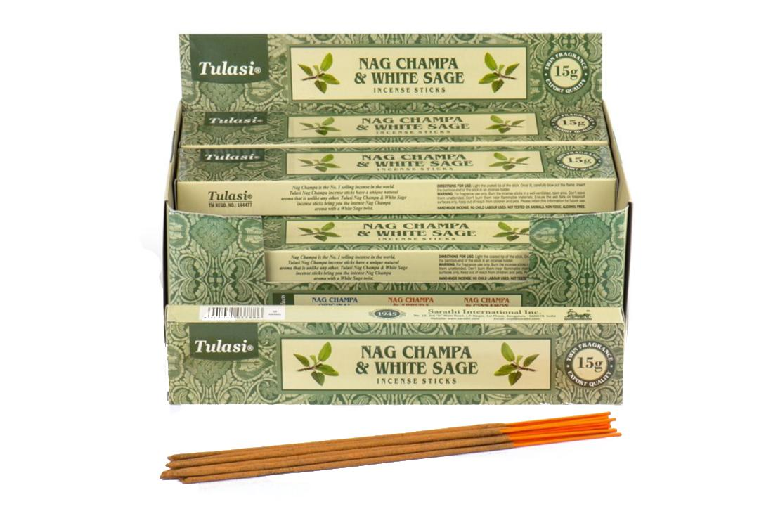 Tulasi | White Sage & Nag Champa Incense Sticks