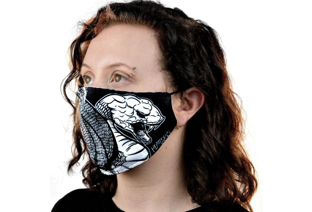 Heartless | Coiled Snake Face Mask - Side View