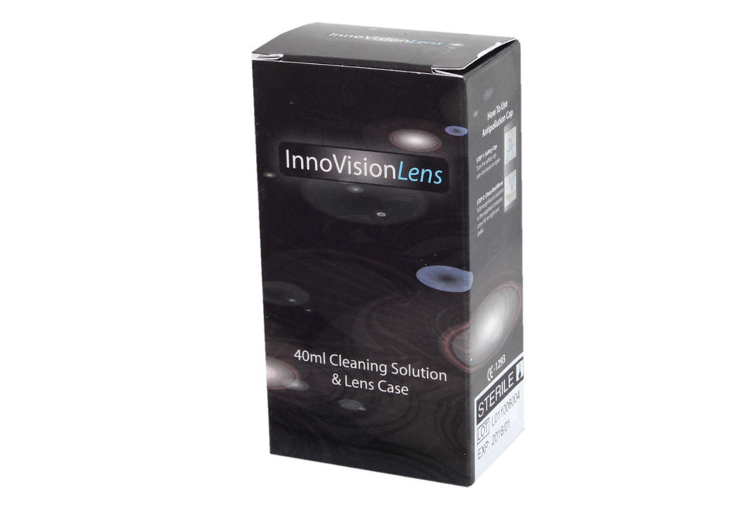 Innovision | Contact Lens Case & Cleaning Solution Kit